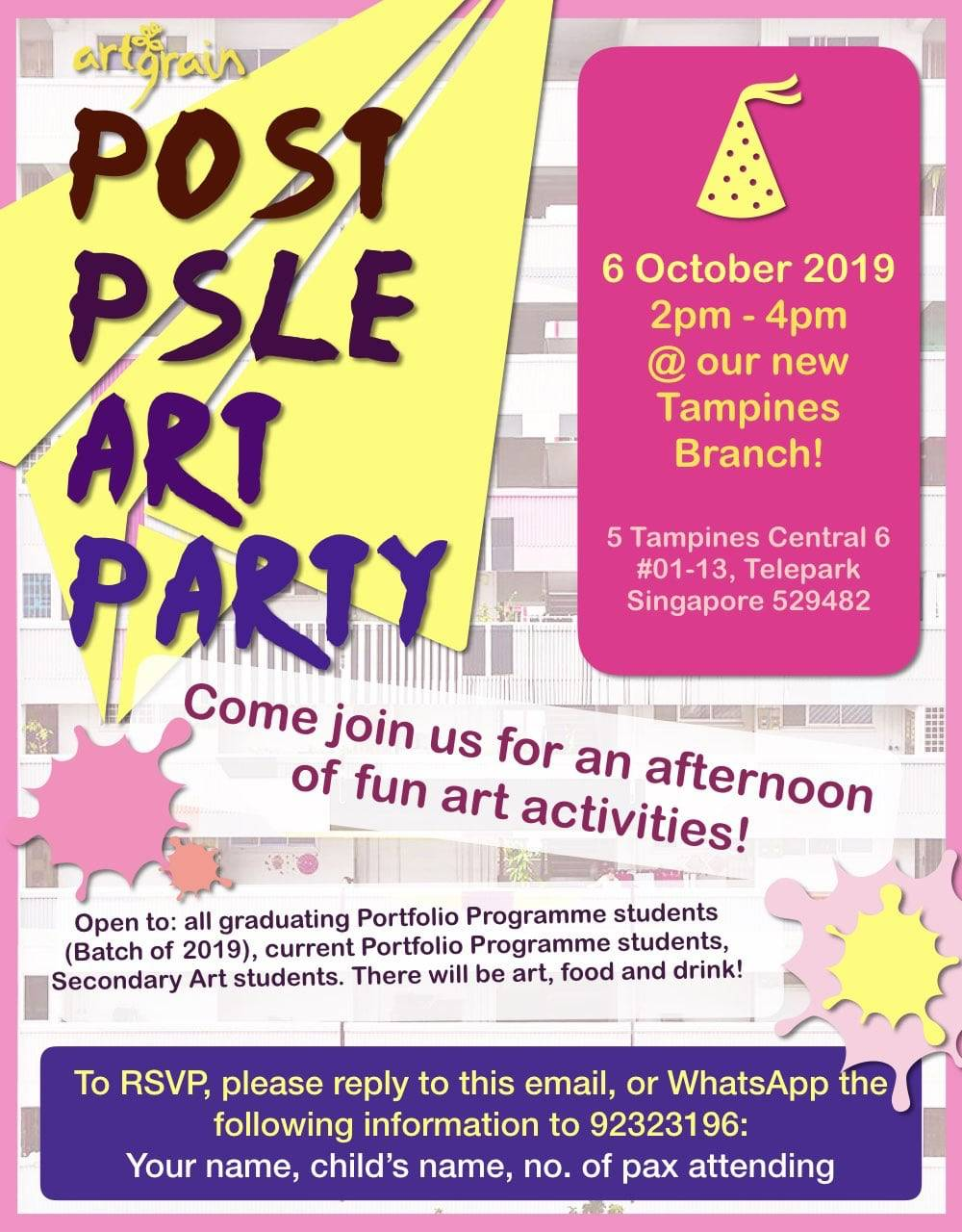 Post-PSLE Party – 6 October 2019