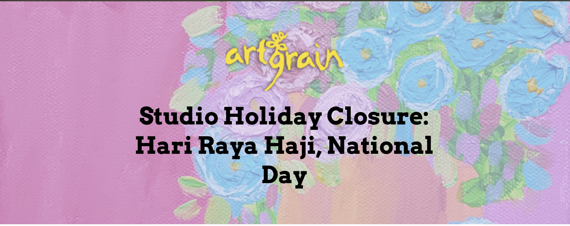 Studio Holiday Closure: Hari Raya Haji and National Day