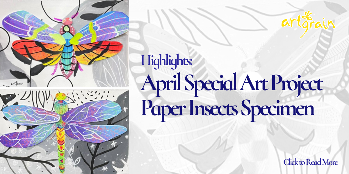 April 2021 Special Art Project: Paper Insect Specimens